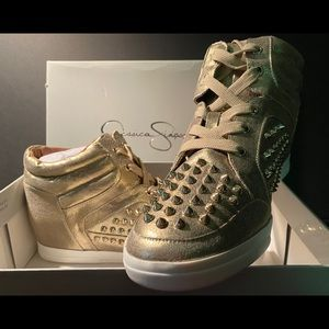 Jessica Simpson sneakers spikes size 10 trebble